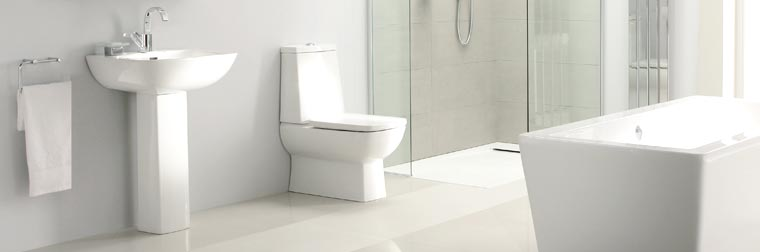 Toilet in a modern bathroom
